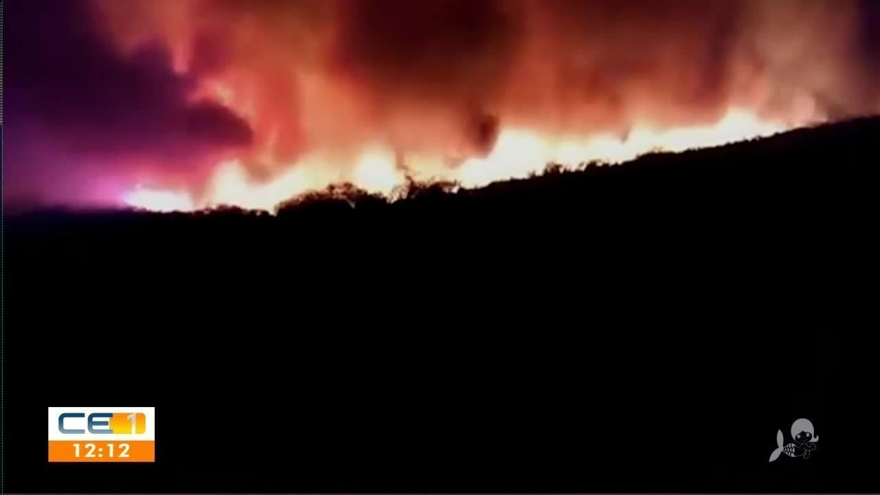Incêndio assusta moradores de Parambu