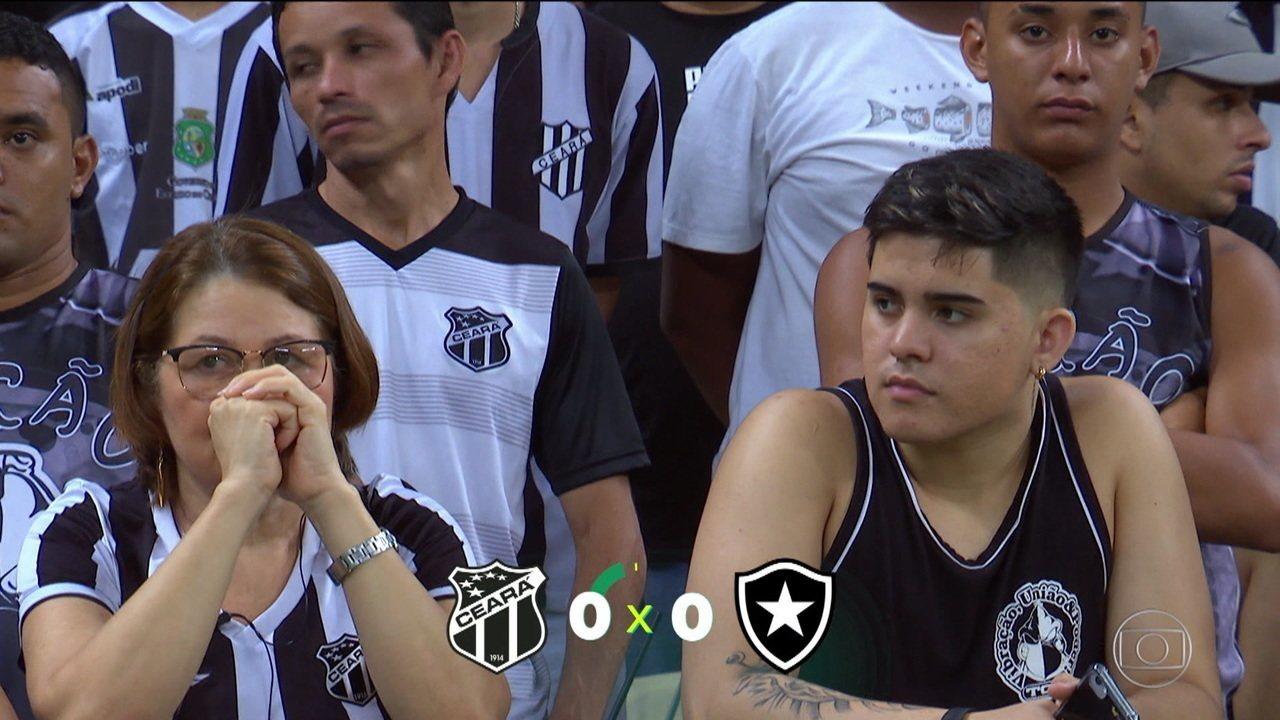 Ceará e Botafogo ficam no empate sem gols e ninguém sai feliz do Castelão
