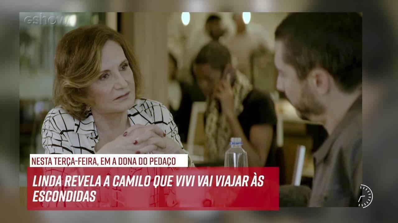Resumo do dia - 17/09 – Linda revela a Camilo que Vivi vai viajar às escondidas
