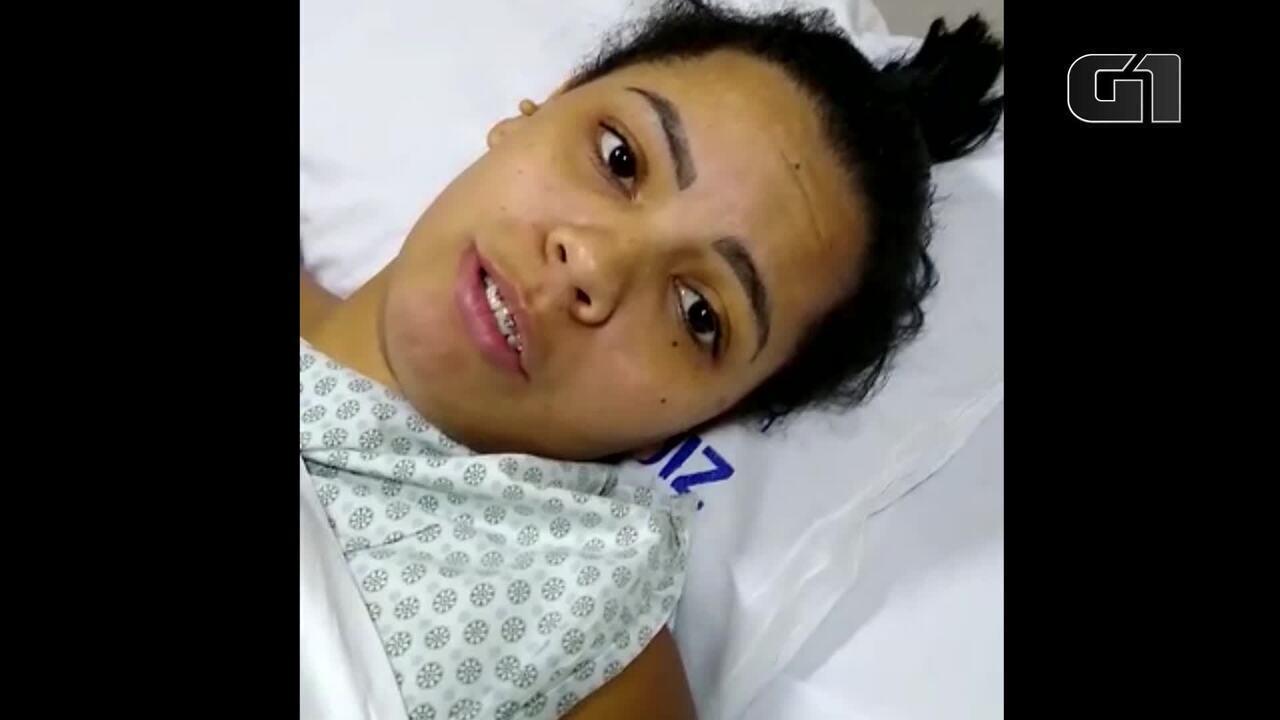 'Não consigo dormir direito', diz mulher que caiu do terceiro andar do Hospital Badim