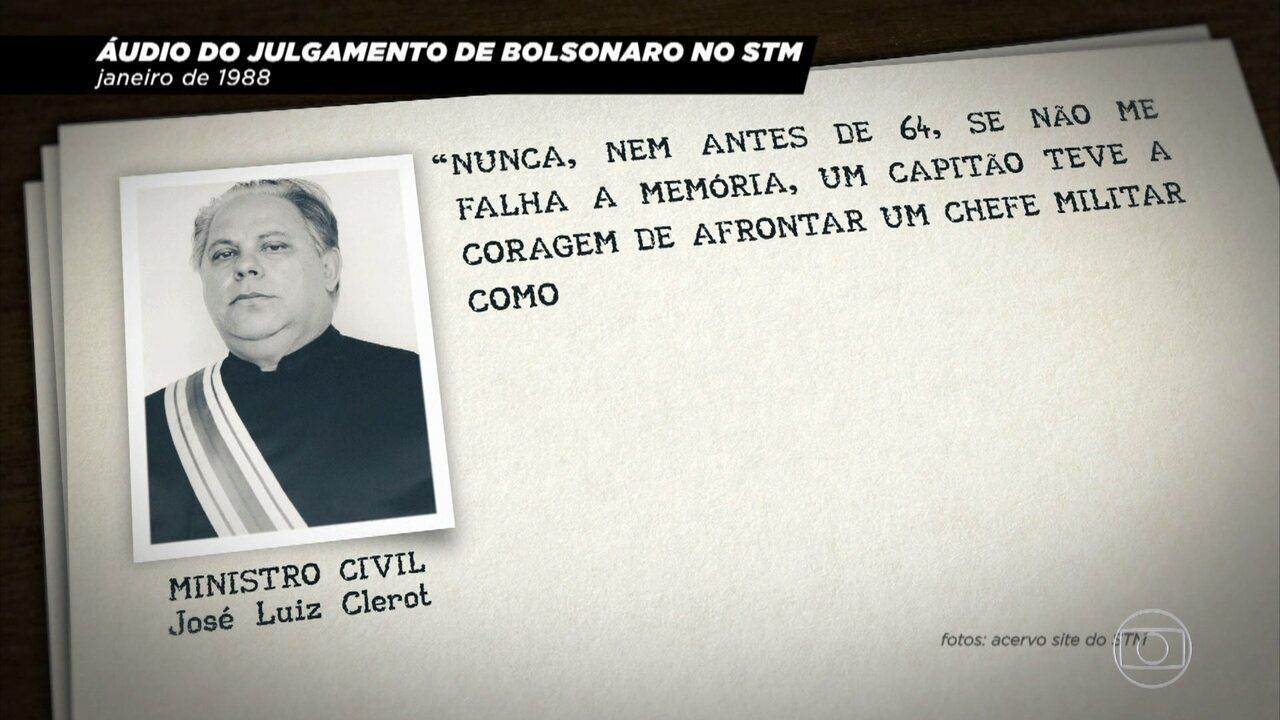 'Conversa com Bial' mostra áudios de julgamento de Jair Bolsonaro em 1988