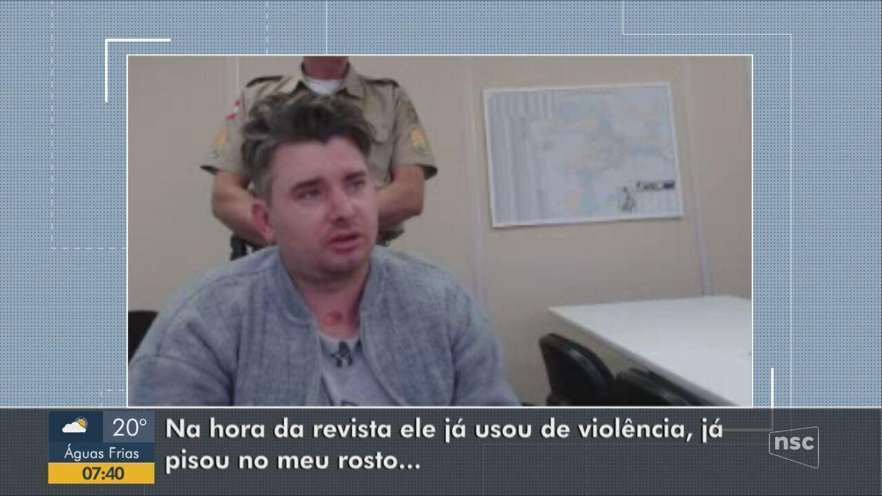 Motorista embriagado que agrediu policiais em Jaraguá do Sul presta depoimento