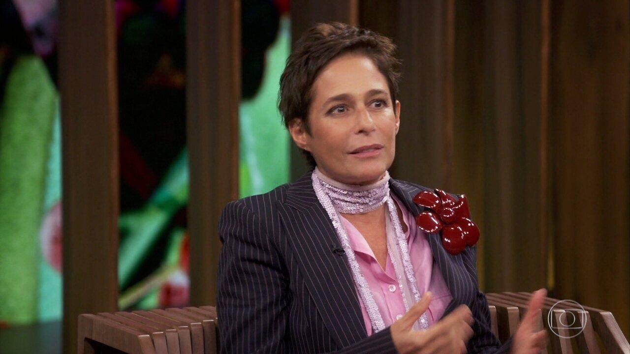 Andréa entrega que ficou receosa ao aceitar o papel por não ser parecida com Hebe