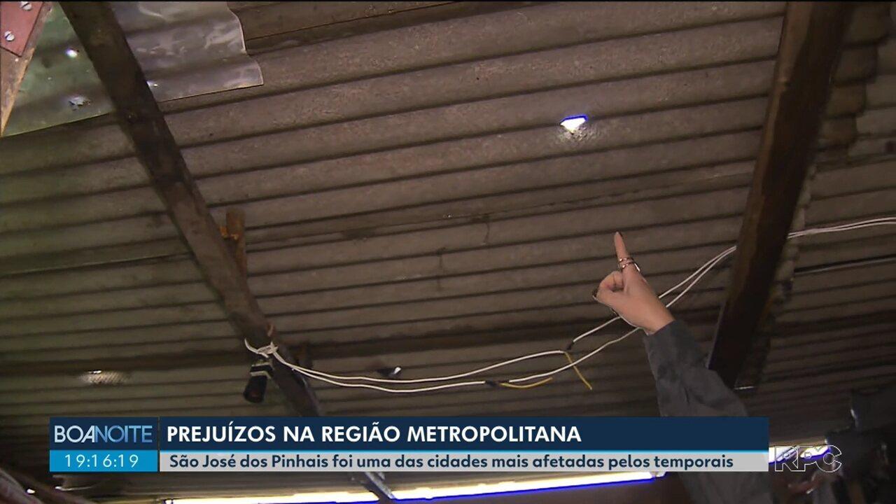 Temporal causa prejuízos em São José dos Pinhais