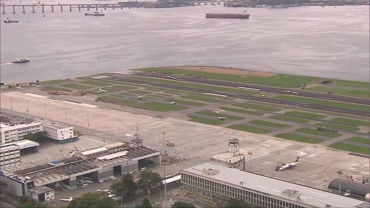 Aeroporto Santos Dumont reabre pista principal