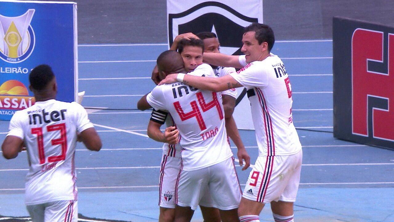 Melhores momentos de Botafogo 1 x 2 São Paulo pela 20ª rodada do Campeonato Brasileiro