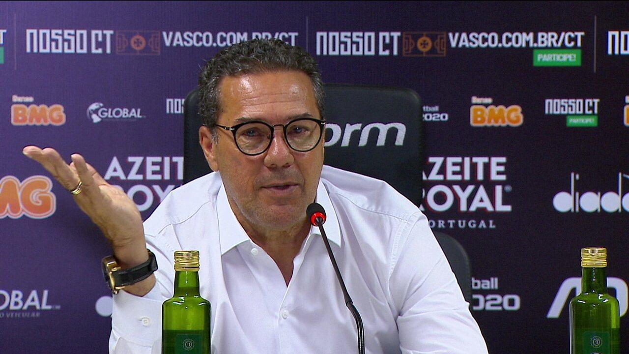 Vanderlei Luxemburgo fala sobre o empate do Vasco com o Athletico-PR em São Januário