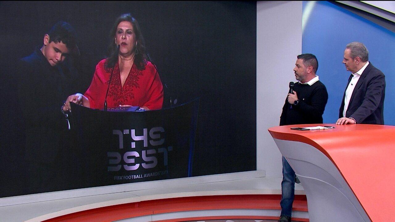 Jornalista explica como encontrou a Silvia, que narra os jogos do Palmeiras para o filho, Nickollas