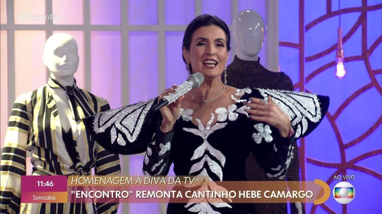 Fátima Bernardes faz homenagem à Hebe Camargo
