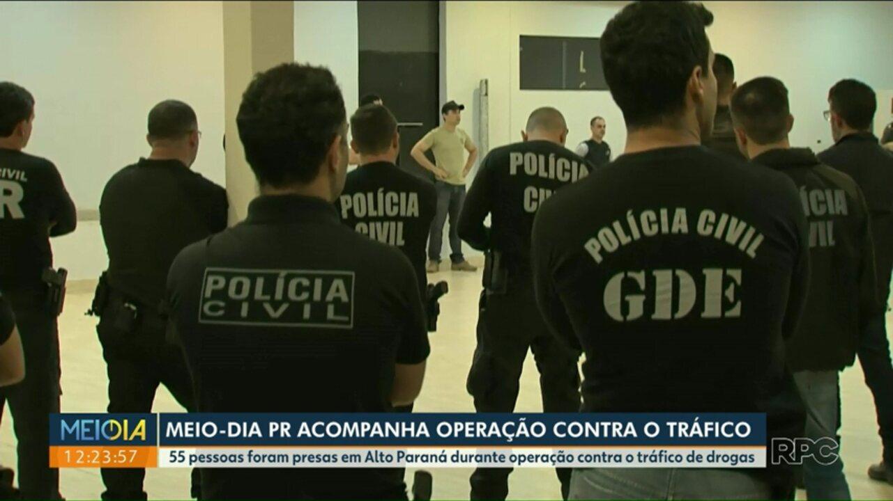 Polícia realiza operação contra tráfico de drogas em Alto Paraná