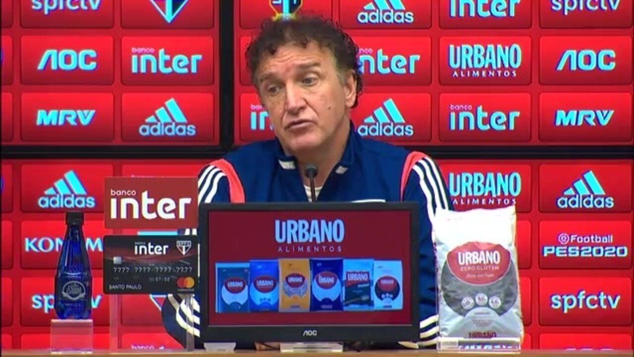 Veja como foi a entrevista do técnico Cuca após a derrota do São Paulo para o Goiás