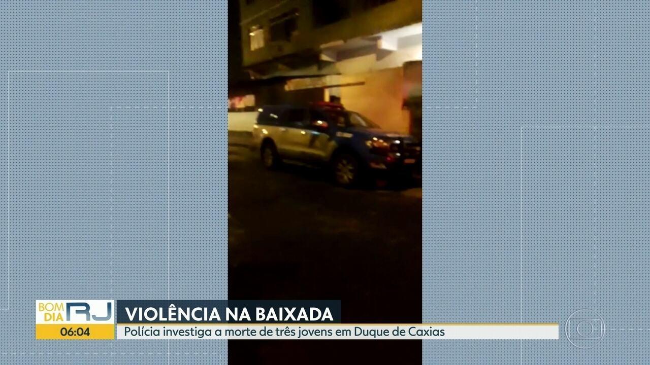 Polícia investiga morte de 3 jovens em Duque de Caxias