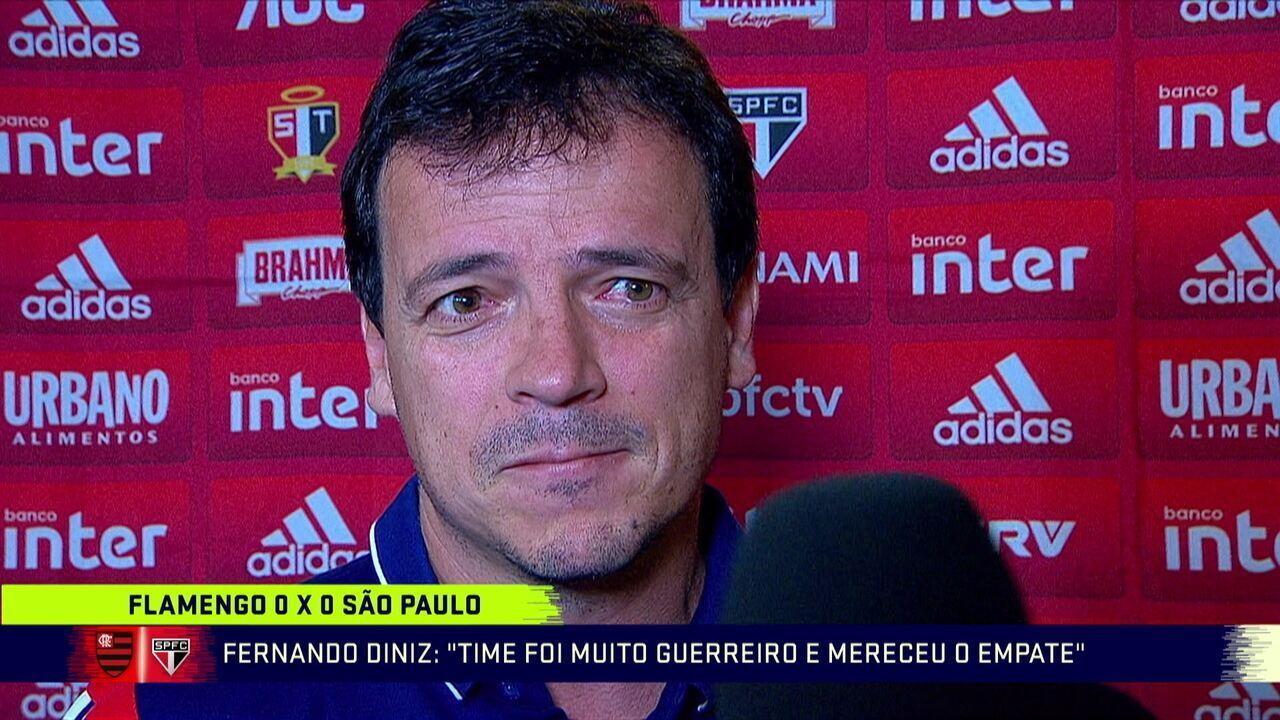 Entrevista de Fernando Diniz após estreia no São Paulo em empate com Flamengo