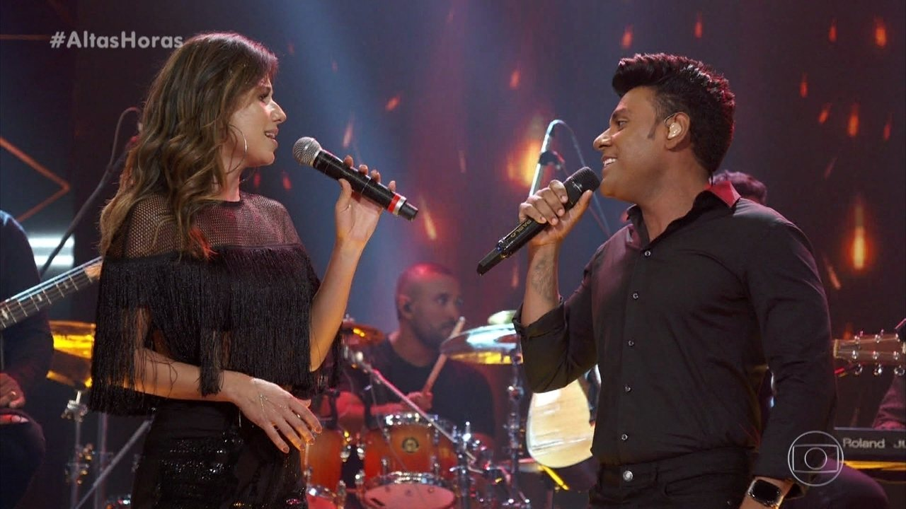 Pablo e Paula Fernandes arrepiaram ao som de 'Sinônimos'