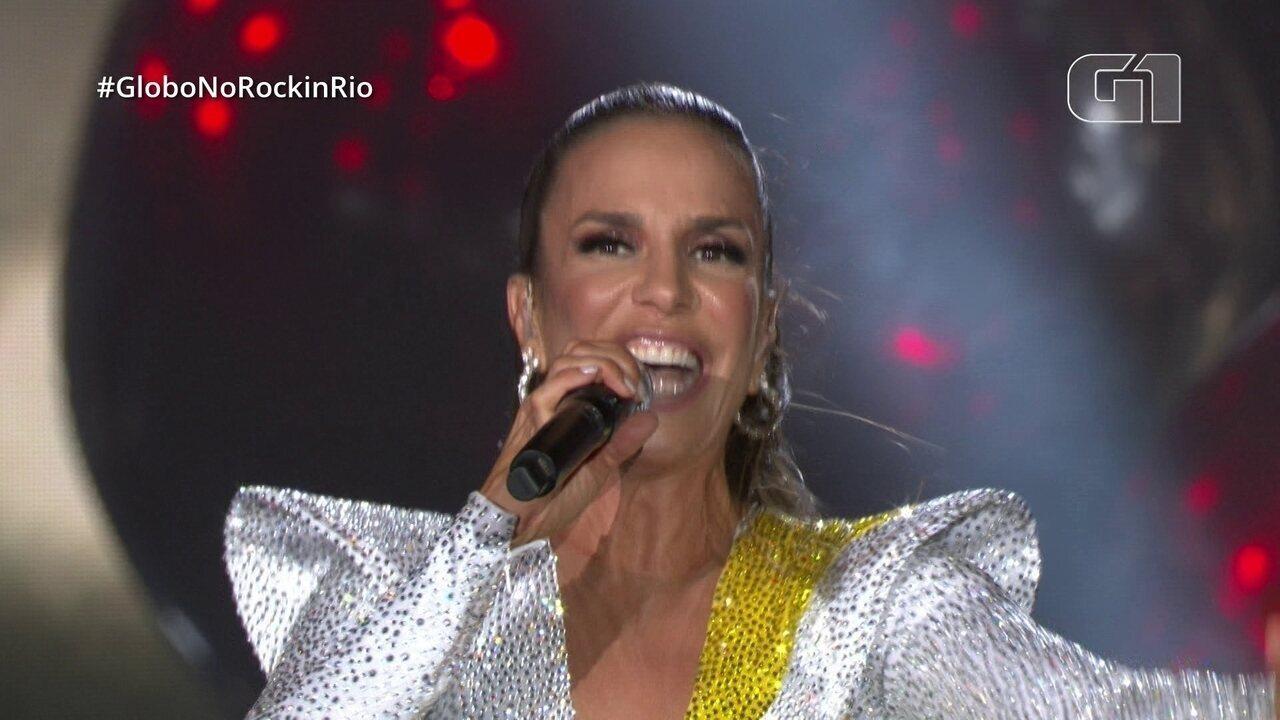 Ivete Sangalo agita o público com funk no Rock in Rio