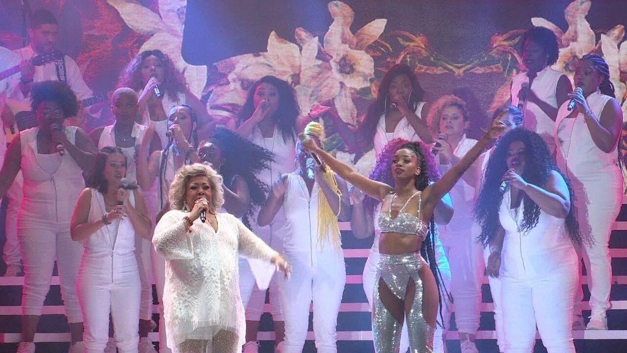 """Iza e Alcione cantam """"Não Deixem o Samba Morrer"""" no Rock in Rio"""