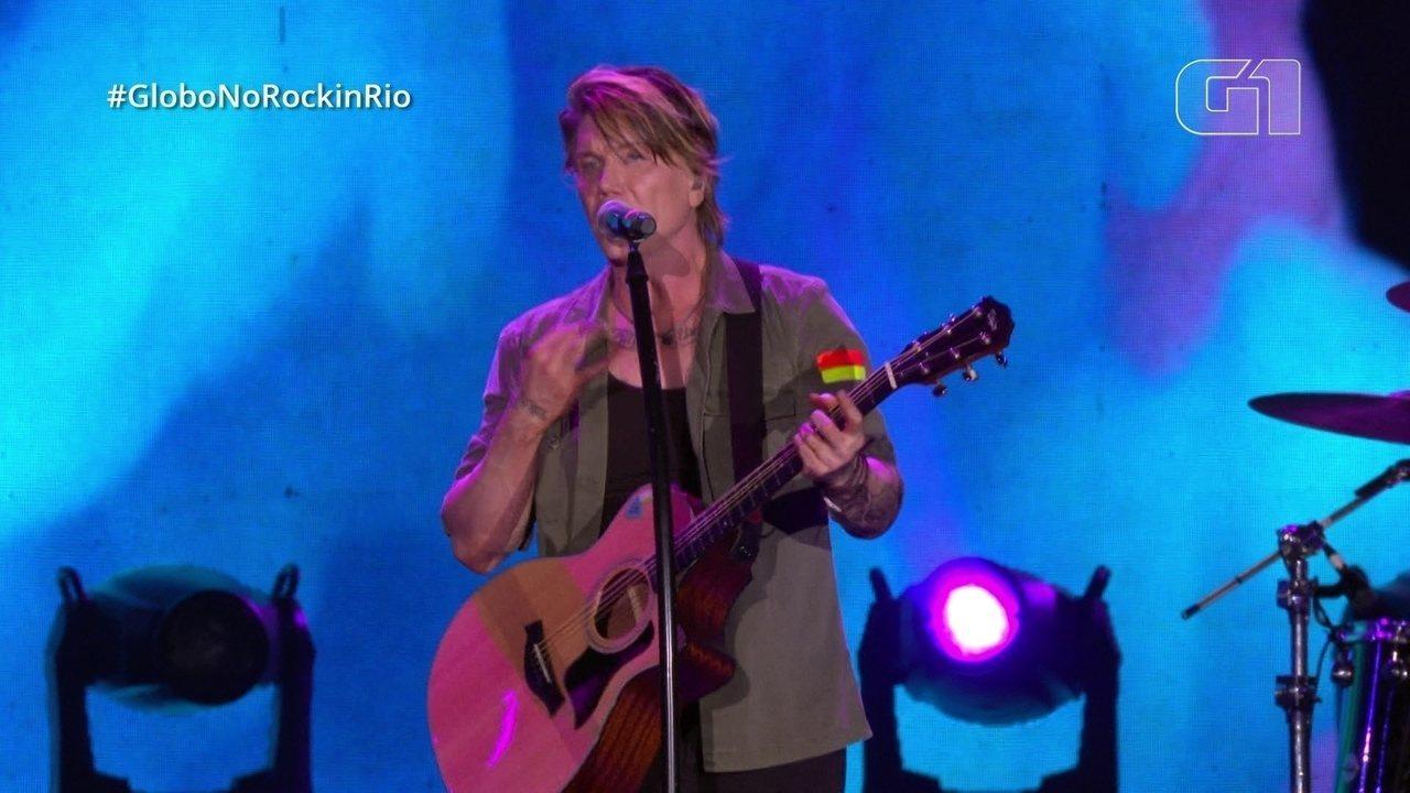"Goo Goo Dolls cantam ""Black Balloon"" no Rock in Rio"
