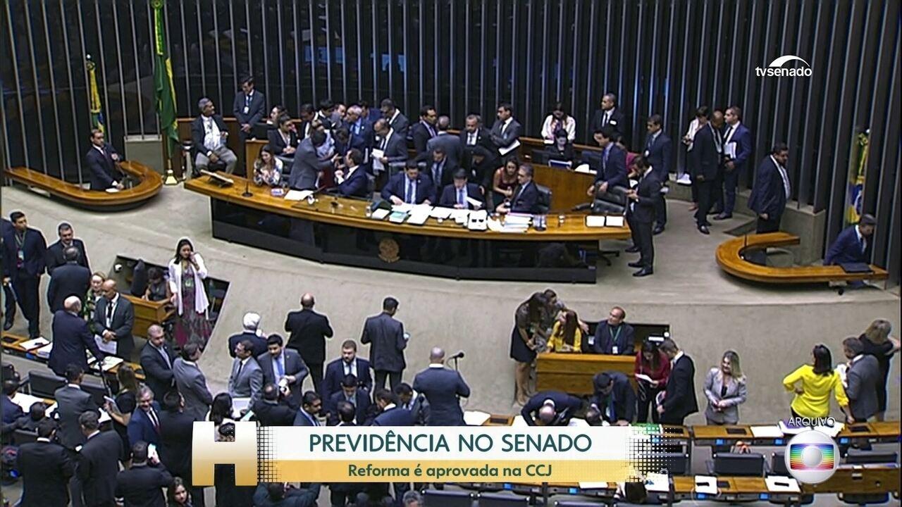 Aprovada na CCJ do senado a proposta do relator para a reforma da Previdência