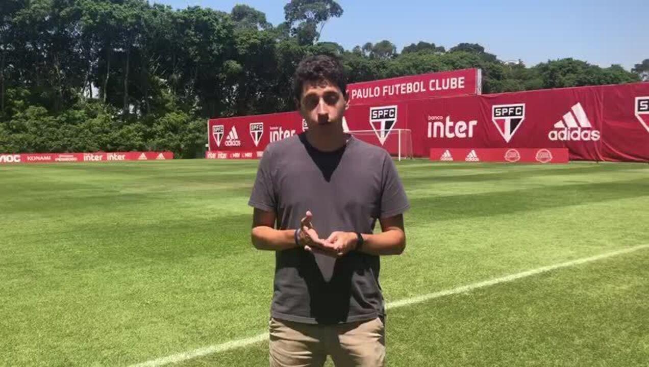 Marcelo Hazan detalha o treino desta terça-feira no São Paulo