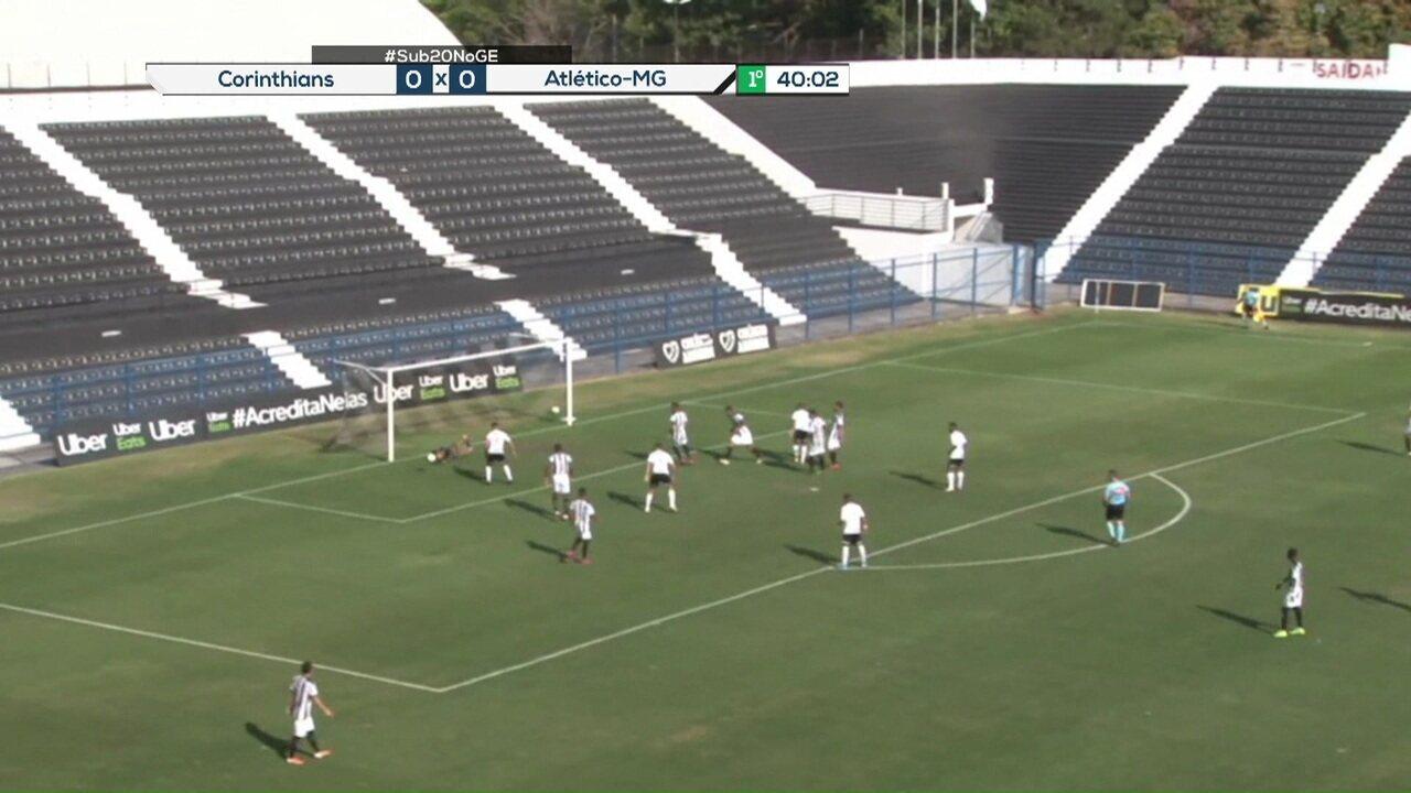 Melhores momentos de Corinthians 1 x 0 Atlético-MG pela 17ªrodada do Campeonato Brasileiro Sub-20