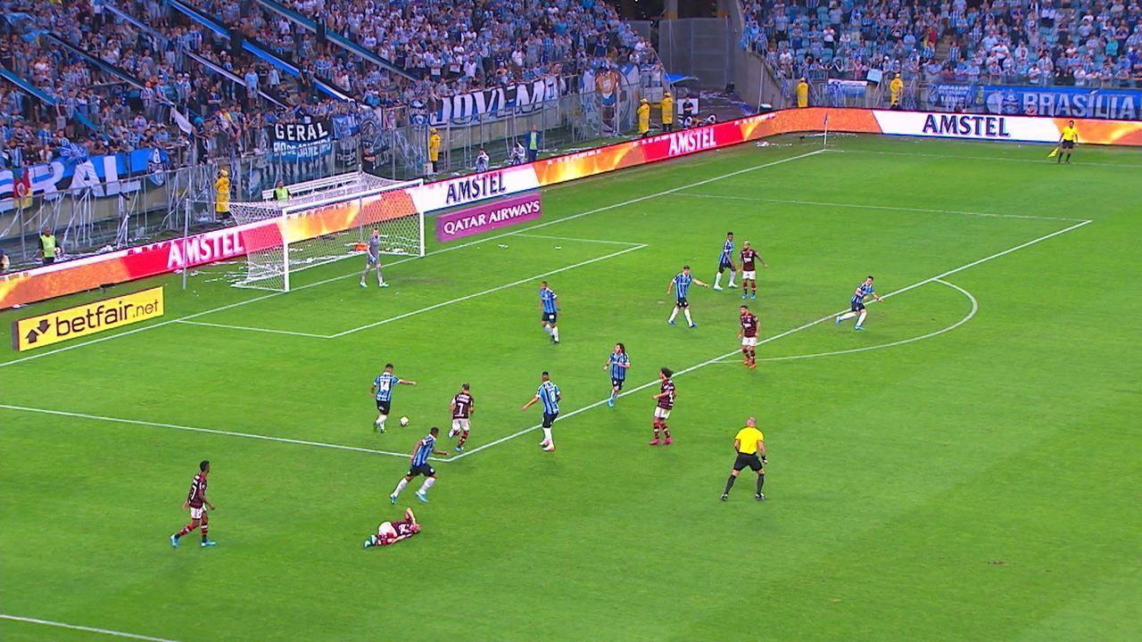 Veja a jogada do gol do Grêmio contra o Flamengo desde o início