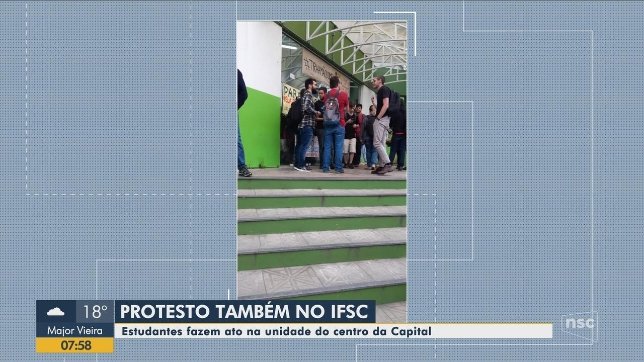 Estudantes do IFSC fazem paralisação nesta quinta-feira (3) em Florianópolis