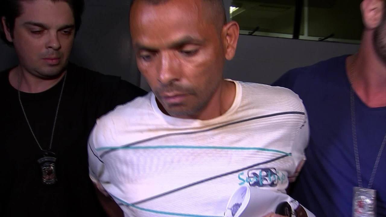 Caso Aline: vídeo mostra o momento em que suspeito é levado pela polícia em Alumínio