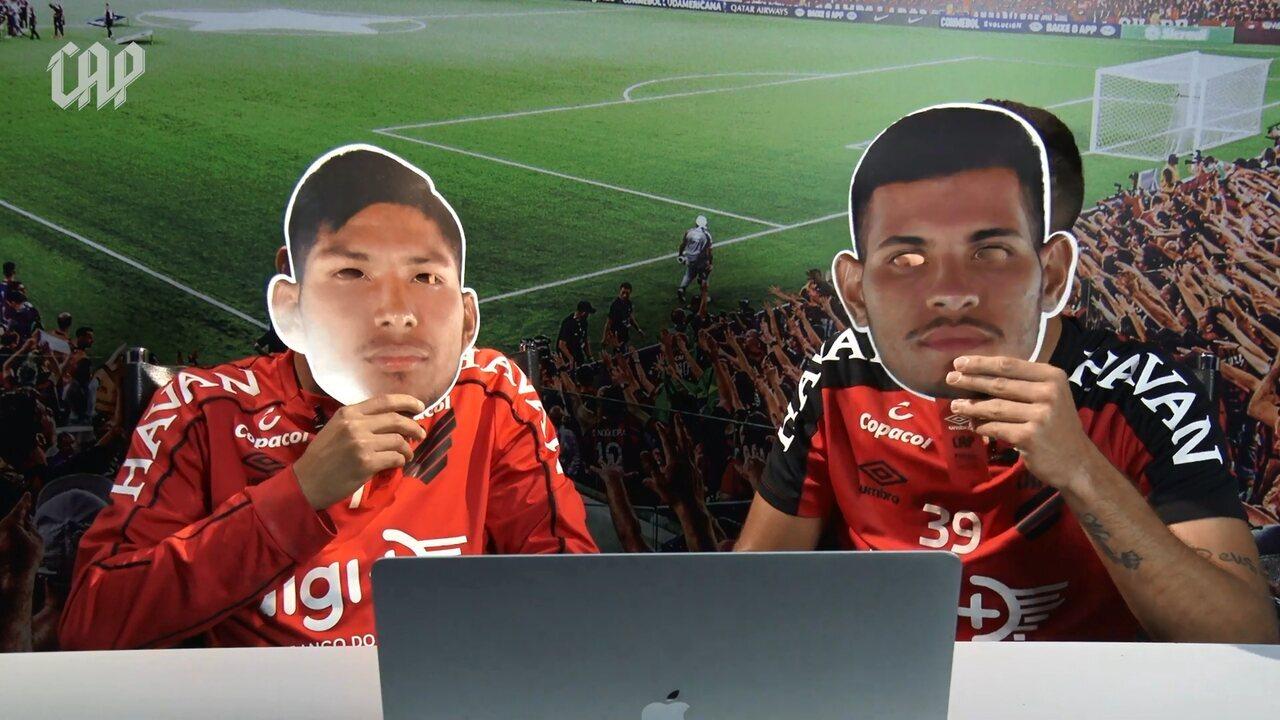 Bruno Guimarães e Rony, do Athletico, brincam em narração sobre finais da Copa do Brasil