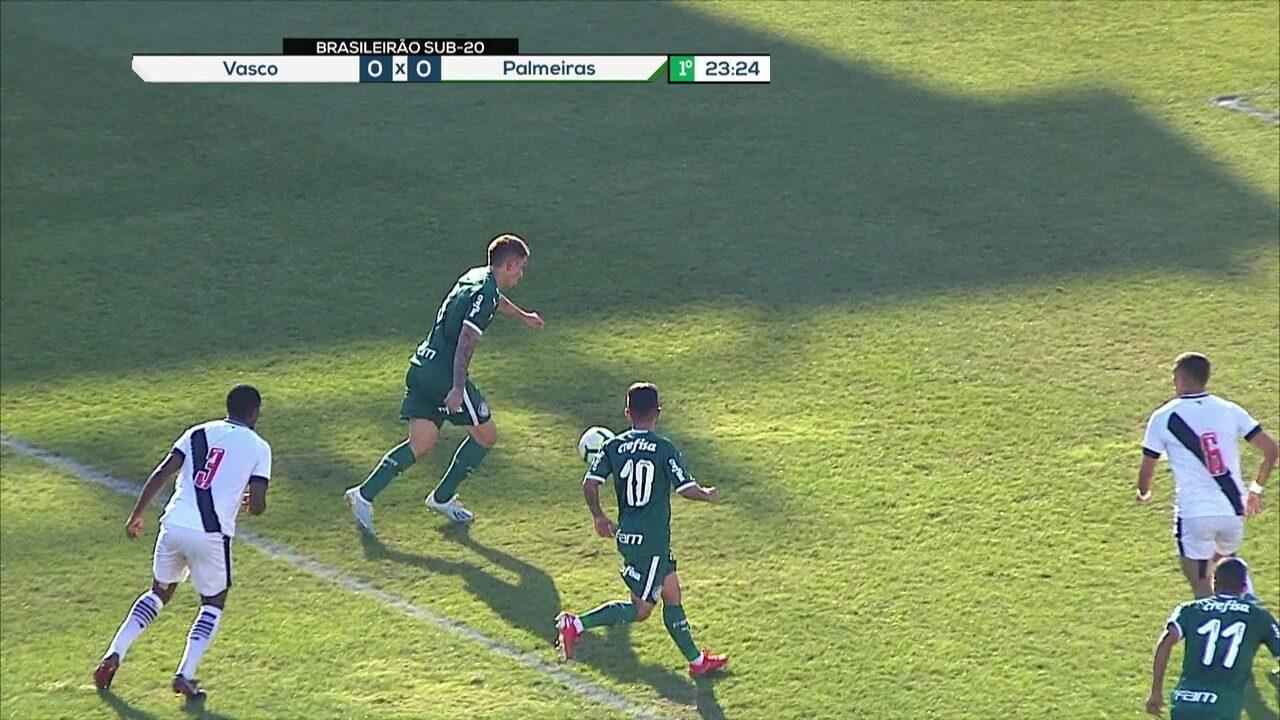 Melhores momentos: Vasco 0 x 0 Palmeiras pelo Campeonato Brasileiro sub-20