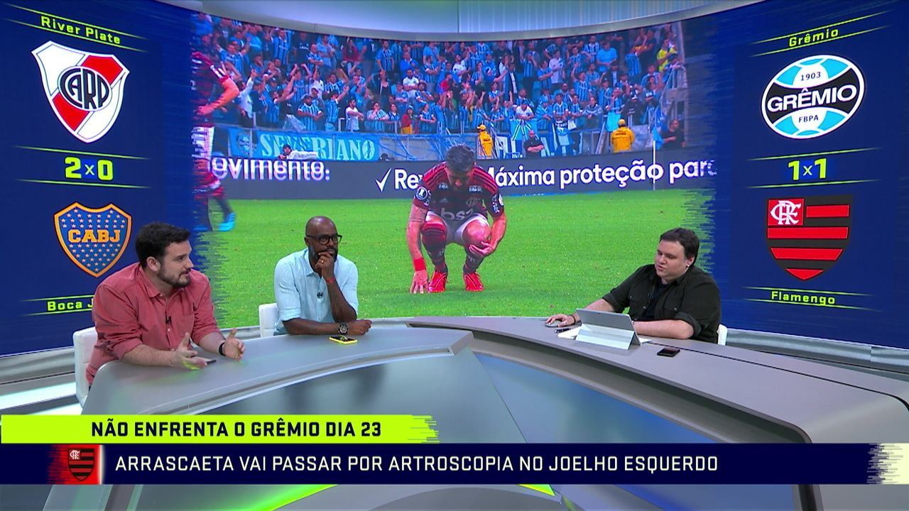Comentaristas falam sobre lesões de Arrascaeta e Filipe Luís