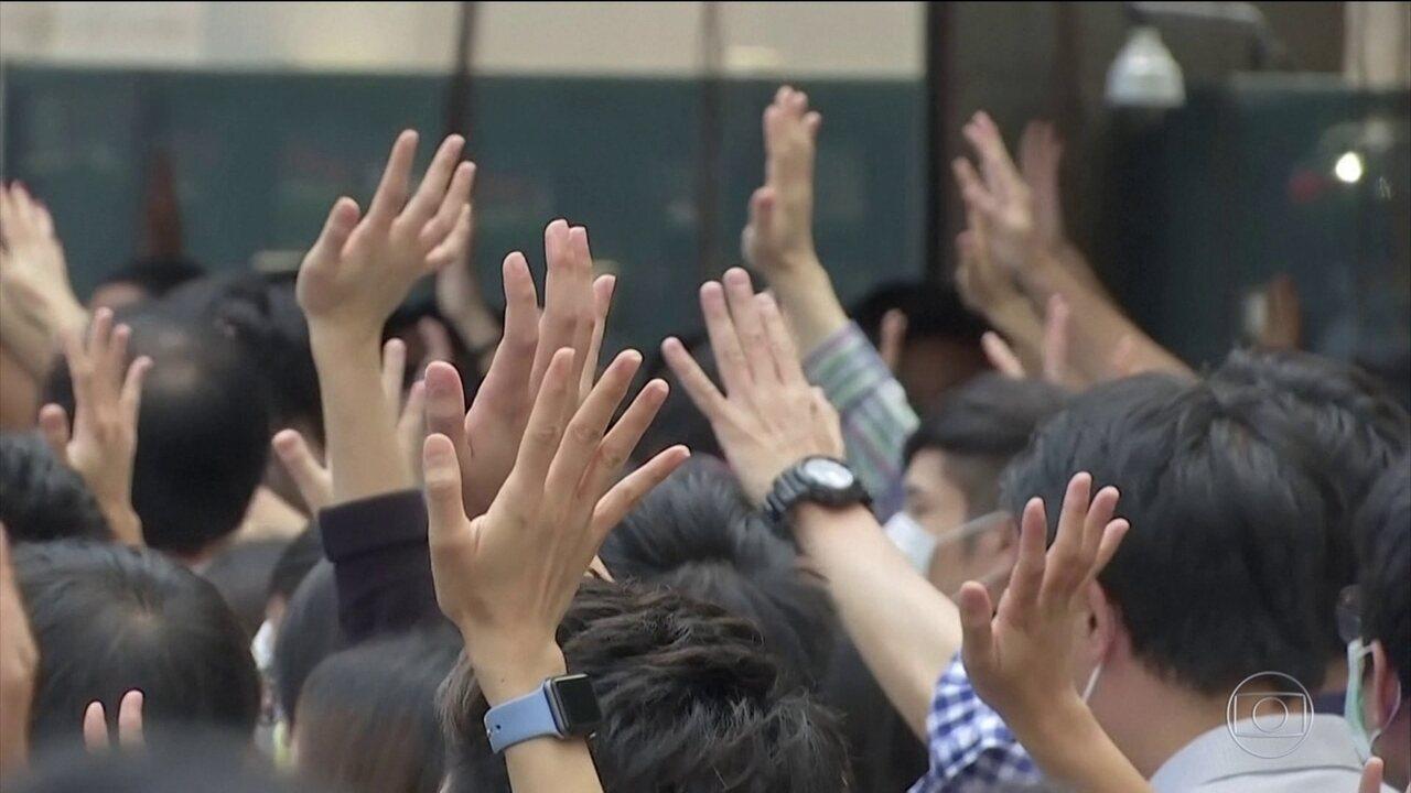 Governo de Hong Kong proíbe o uso de máscaras em protestos