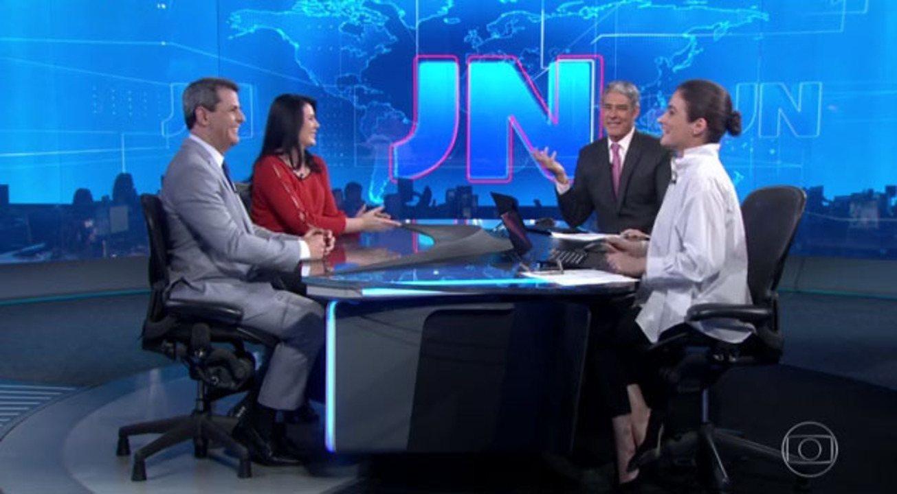 Ellen Ferreira, de Roraima, e Fábio William, do DF, apresentam o JN neste sábado (5)
