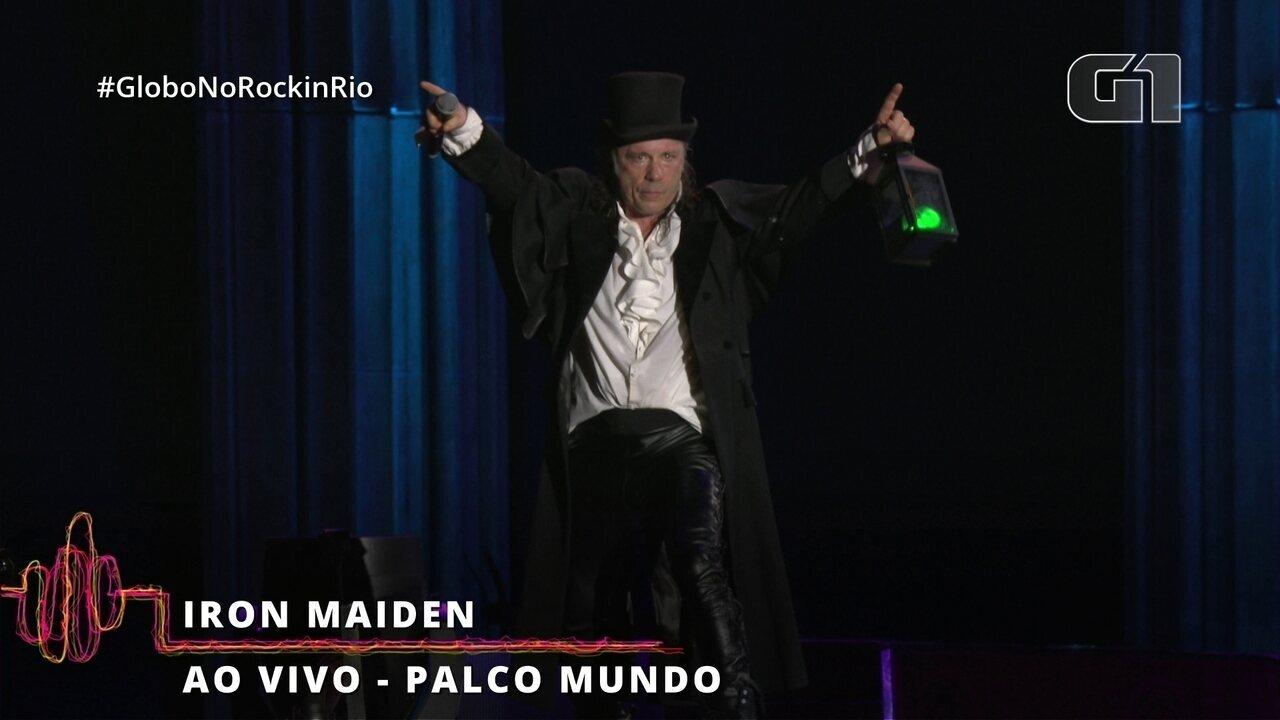 """Iron Maiden agita o Rock in Rio com """"Fear of the Dark"""""""