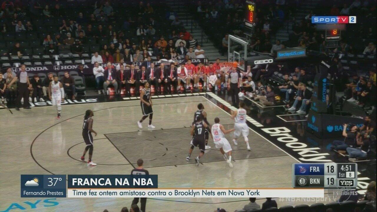Veja melhores momentos da vitória do Brooklyn Nets sobre o Franca por 137 a 89