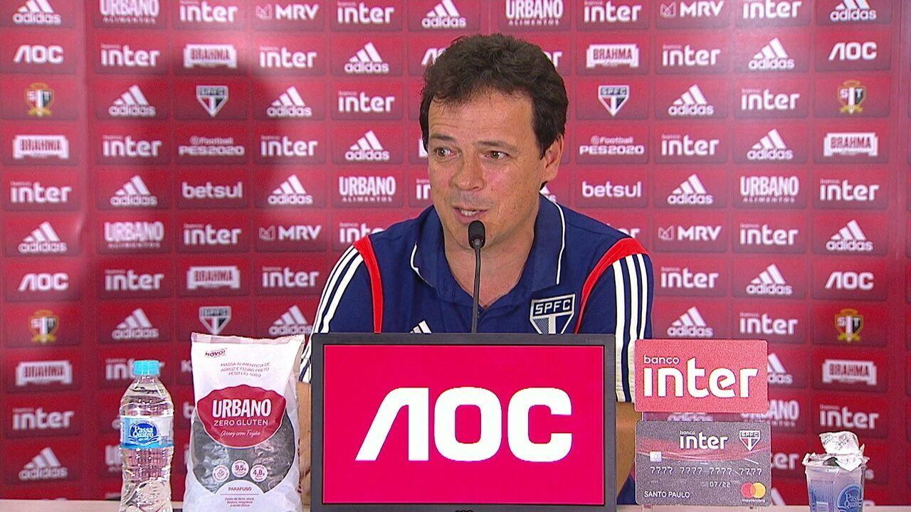 Confira a íntegra da coletiva do Fernando Diniz após vitória do São Paulo sobre o Fortaleza