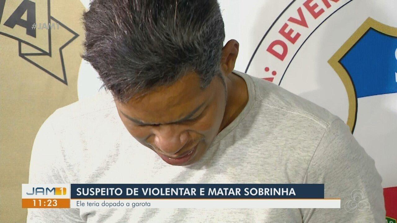 Tio é preso suspeito de violentar e matar sobrinha de 14 anos em Manaus