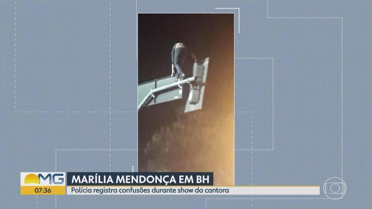 Show da cantora Marília Mendonça tem correria e confusão no Centro de BH