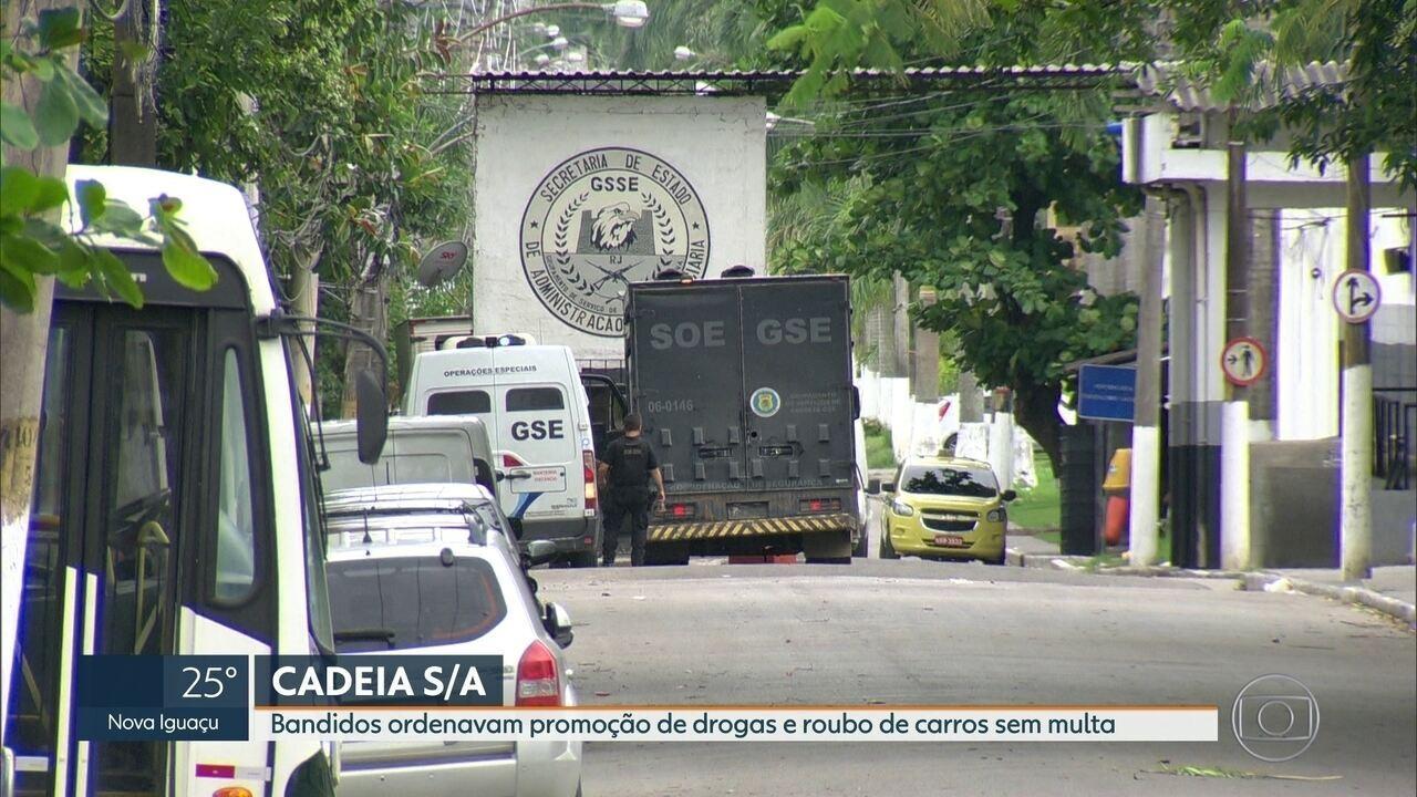 Bandidos ordenavam promoção de drogas e roubo de carros sem multa