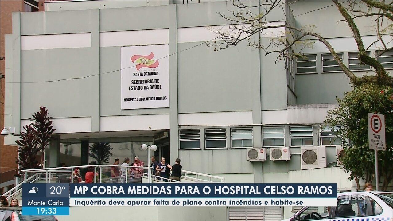Inquérito deve apurar falta de plano contra incêndios e habite-se no Hospital Celso Ramos