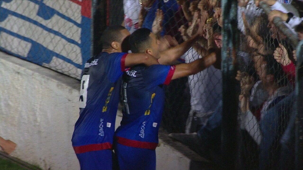 O gol de Operário-PR 0x1 Paraná, pela 27ª rodada da Série B