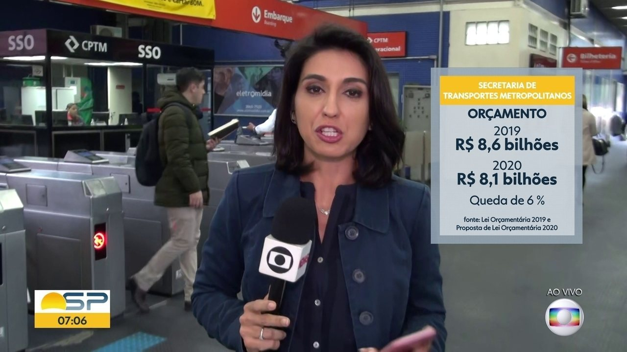 Investimento da Secretaria Estadual dos Transportes será 6% menor em 2020