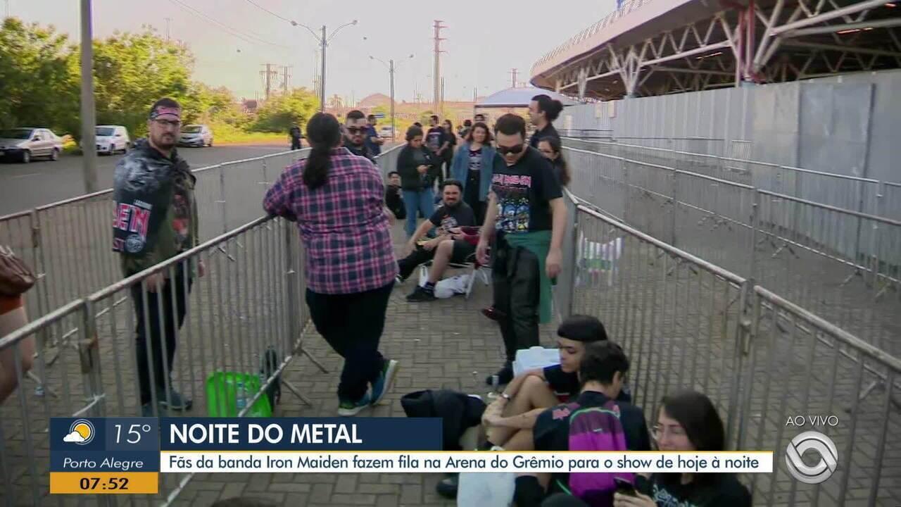 Veja movimentação na volta da Arena do Grêmio para o show do Iron Maiden