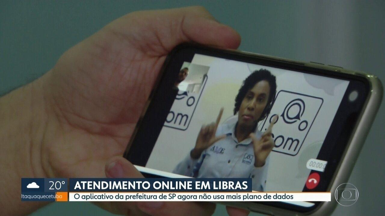 Aplicativo em libras da prefeitura de SP agora não usa mais plano de dados