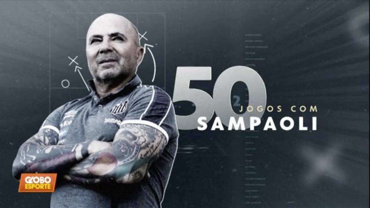 Sampaoli completa 50 jogos como técnico do Santos. Veja a evolução tática que o treinador promoveu no time