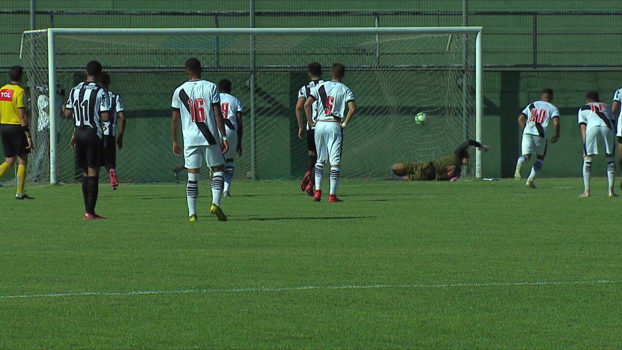 Os gols de Vasco 2 x 1 Atlético-MG pela 18ª rodada do Brasileirão Sub-20