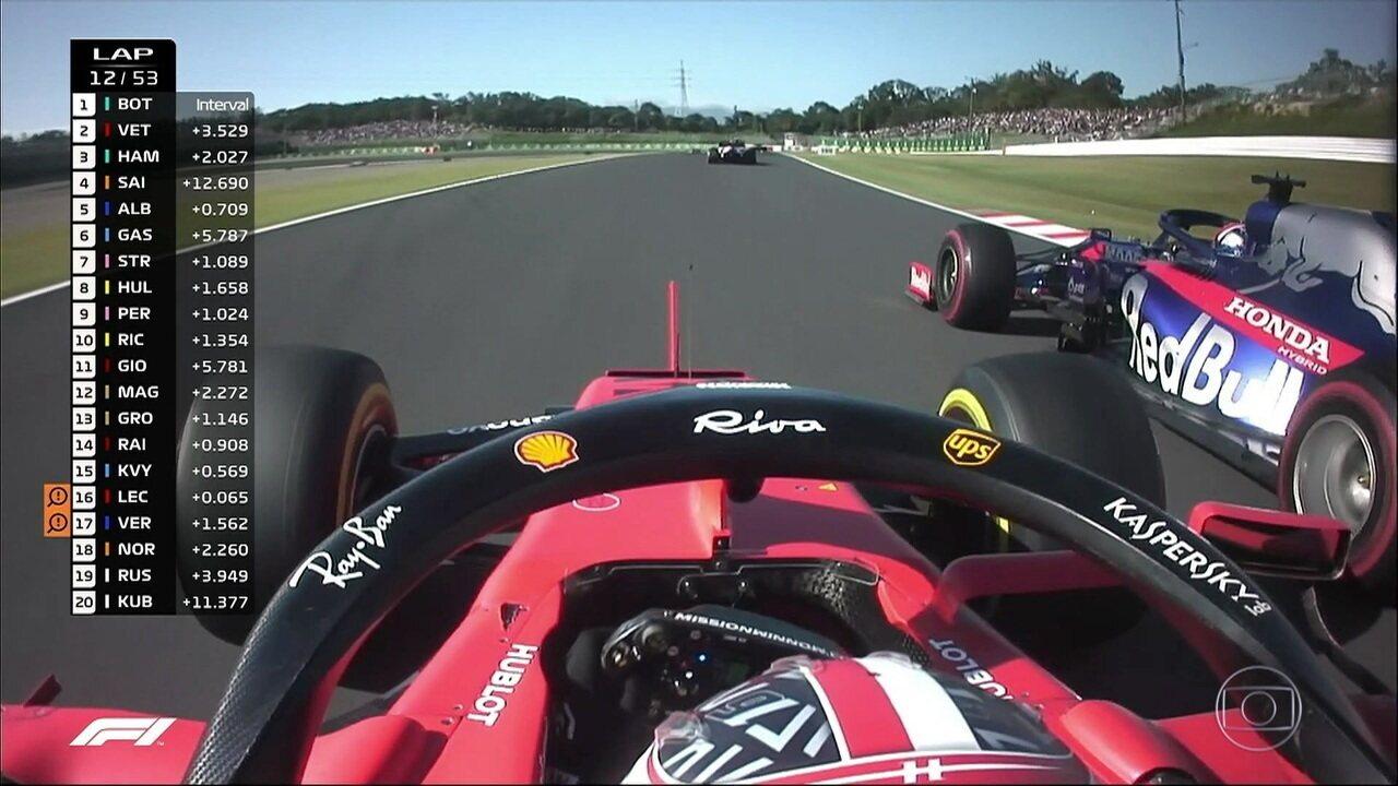 Leclerc segue tentando se recuperar durante a corrida em Suzuka