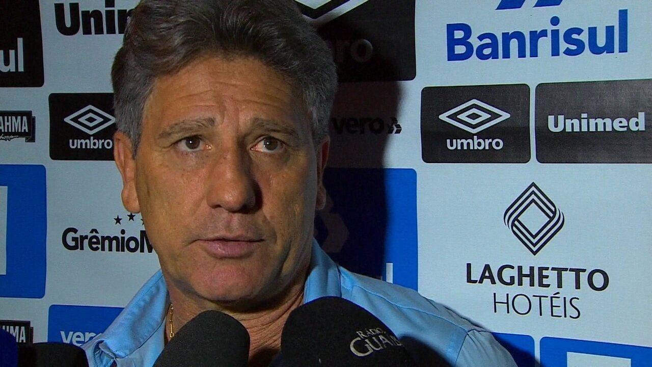 Veja entrevista de Renato Gaúcho após vitória do Grêmio sobre Atlético-MG pelo Brasileirão