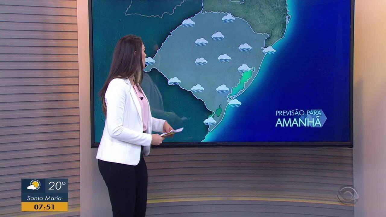 Predomínio da chuva no RS deve se manter nesta terça-feira (15)