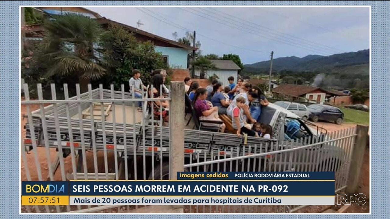 Corpos das vítimas do caminhão que caiu de ribanceira estão no IML de Curitiba