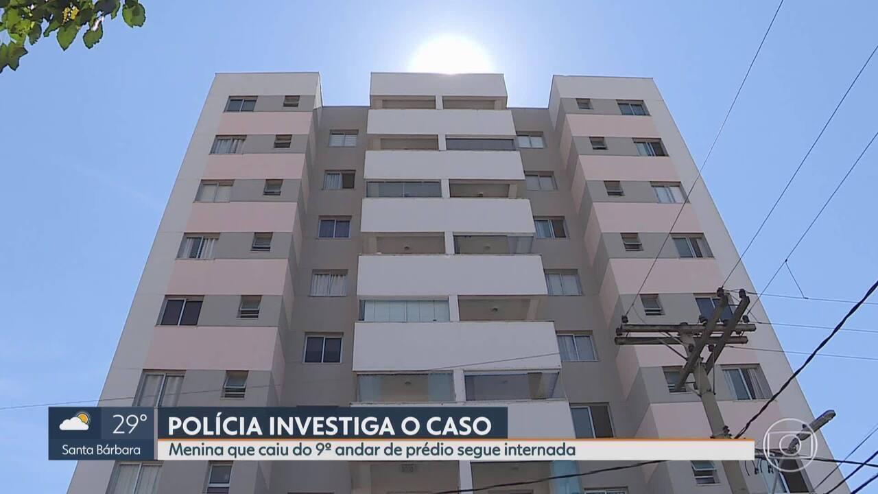 Polícia investiga queda de menina de 9º andar de prédio em BH